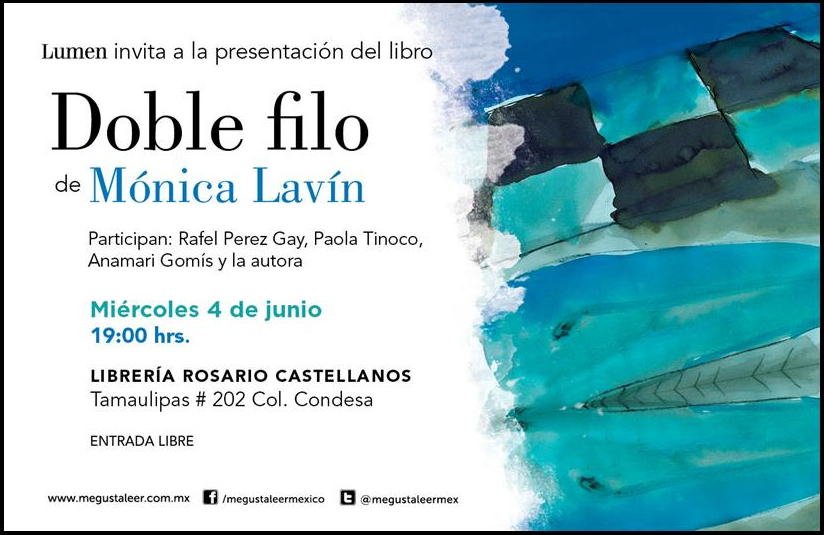 Presentación del Libro Doble Filo de Mónica Lavín
