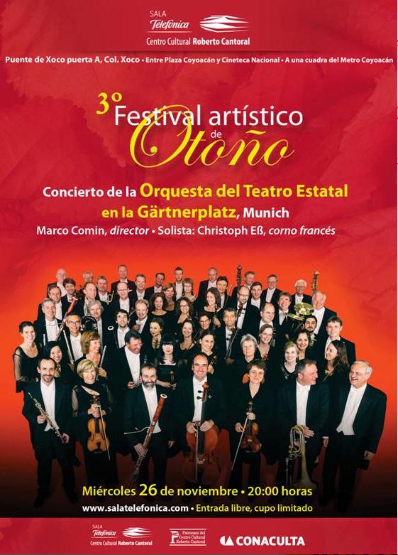 """La Orquesta del Teatro Estatal en la Gartnerplatz, Munich"""