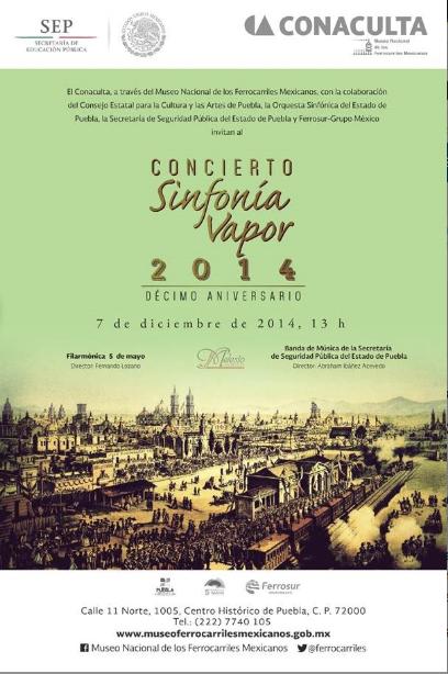 Se Realizará en Puebla, el 7 de Diciembre, el 10º Concierto SINFONÍA VAPOR