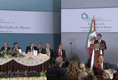 El presidente Peña Nieto secunda el esfuerzo de la cumunidad judía de México y los retos al pueblo judío