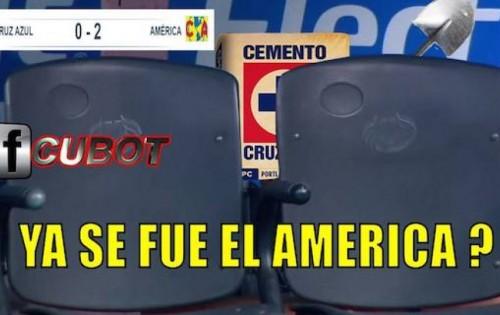Cruz Azul 0 América 2 Los memes de este partido de ligaMX