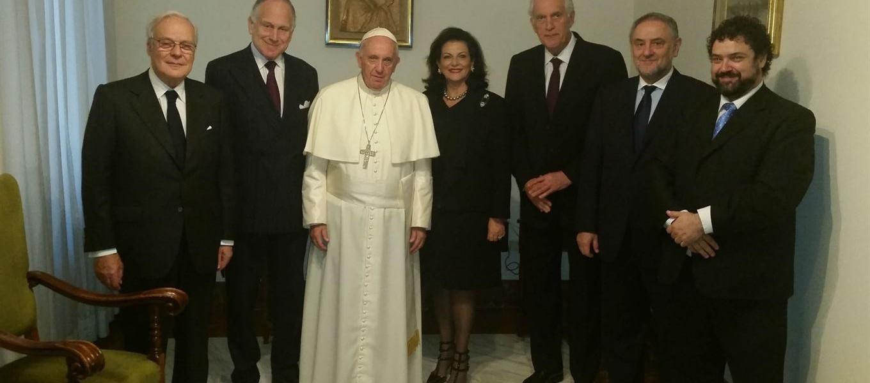 Francisco sorprendió con un chiste religioso a los mayores seis líderes judíos del mundo
