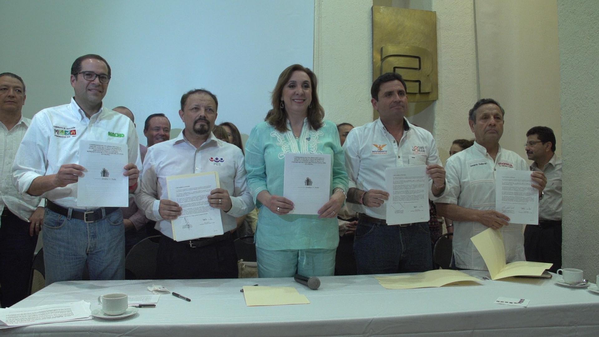 Firma  de Compromiso Vs. Trata por parte de Candidatos a la Gobernatura del Estado de Colima