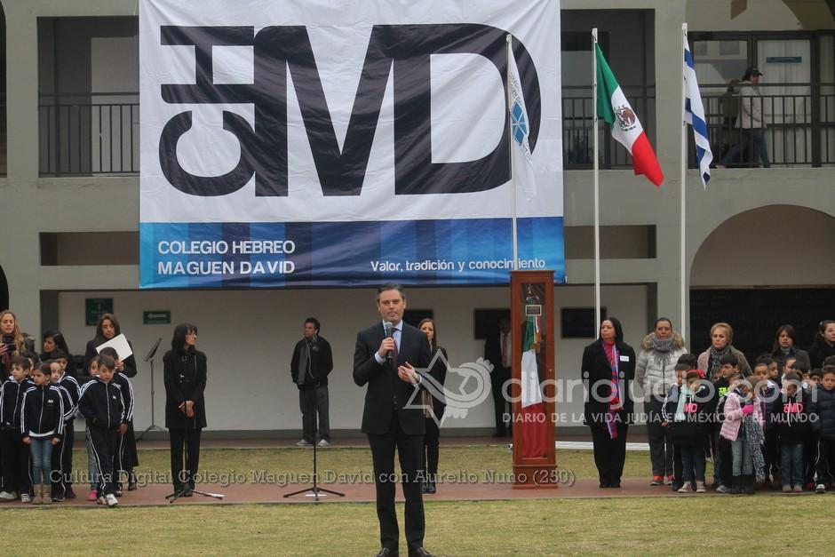 Mensaje al Colegio Hebreo Maguen David del secretario de Educación Pública, Aurelio Nuño Mayer