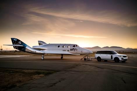 Land Rover en la presentación Mundial del nuevo Virgin Galactic SpaceShipTwo