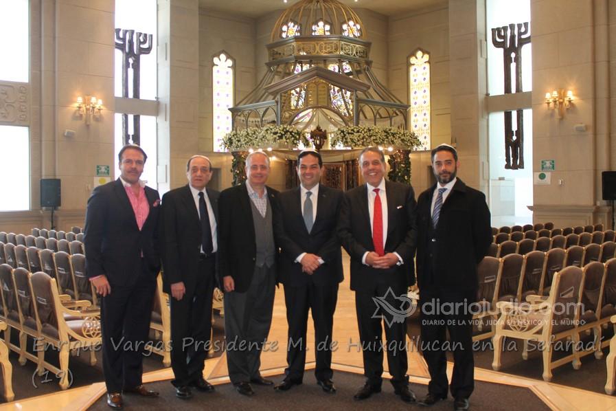 Presidente Municipal de Huixquilucán Enrique Vargas se reúne con lideres de la comunidad Judía