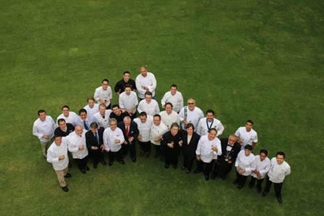 Encuentro de la Embajadora con los chefs de Goût de France