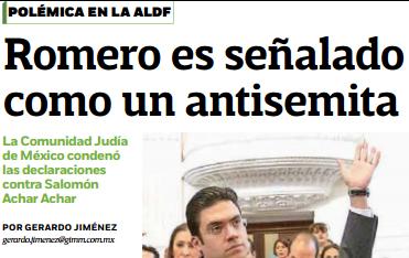 """Llaman """"Pinche judío"""" a Presidente de la Comunidad y se desatan críticas contra el antisemitismo y  el racismo"""