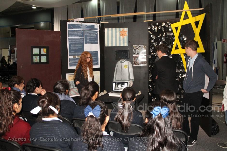 Aprendiendo y enseñando del Holocausto con la escuela Meyali de Chalco, en la Idishe CIM ORT