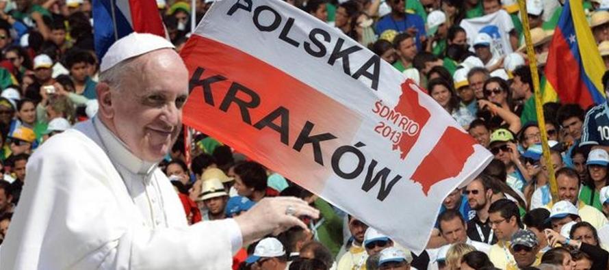 El papa viaja a Polonia para encontrar a los jóvenes y recordar el Holocausto