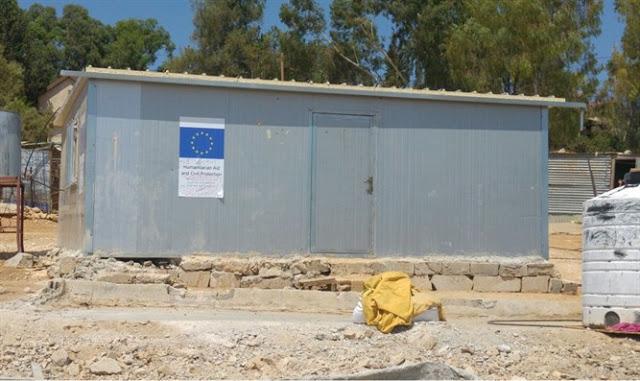 """UE construye casas """"palestinas"""" ilegales a metros de ciudad israelí"""