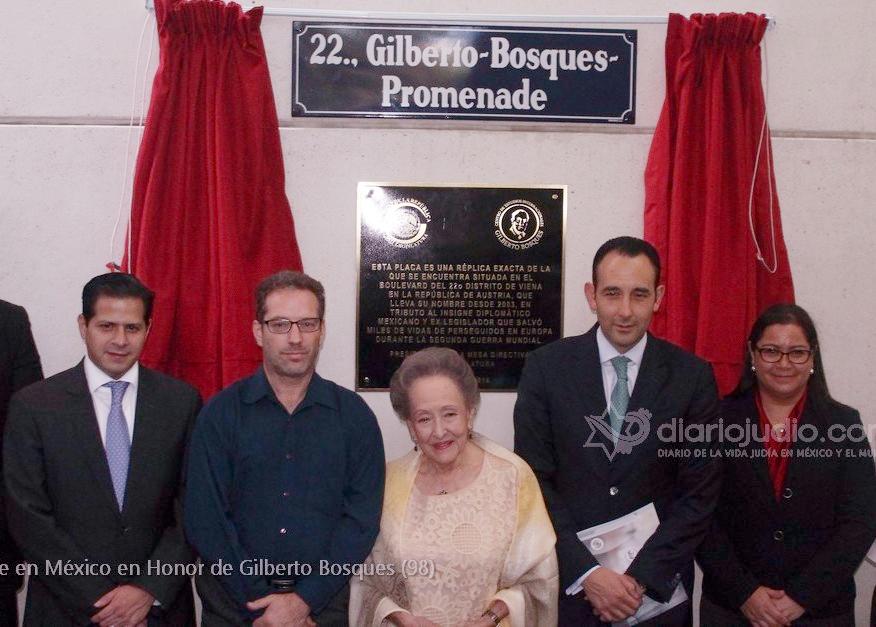 Nombran calle en el Senado en honor a Don Gilberto Bosques, DiarioJudio invitado especial