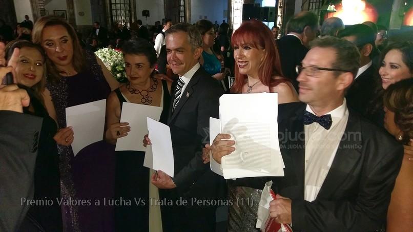 Mancera, Azar premiados  y la Comunidad Judía entre los reconocidos con el Premio Valores contra la Trata de Personas