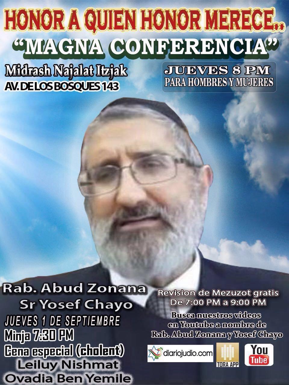 Honor a quien Honor Merece en Homenaje a Jajam Fito Maya Rab Abud Zonana y Yosef Chayo