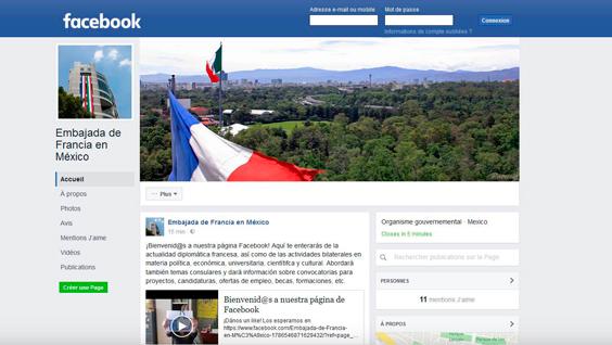 Facebook te acerca la Embajada de Francia en México