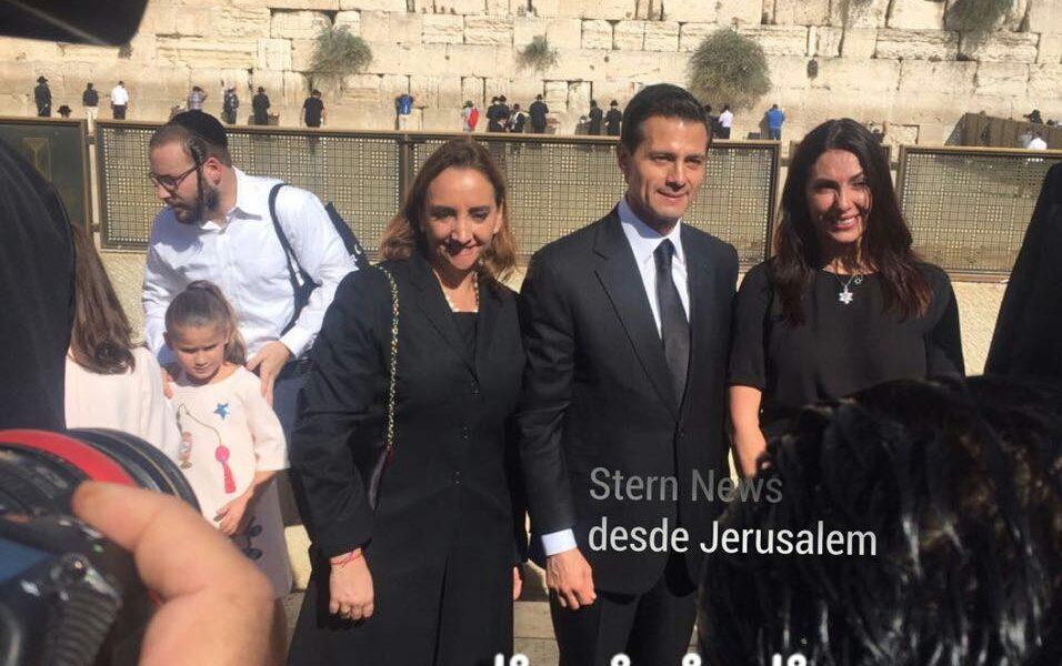 Visita El presidente Peña Nieto el Muro de los Lamentos