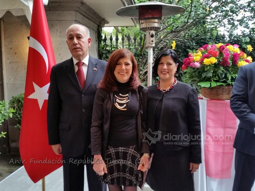 Israel y La comunidad presente en el Día Nacional de Turquía en México