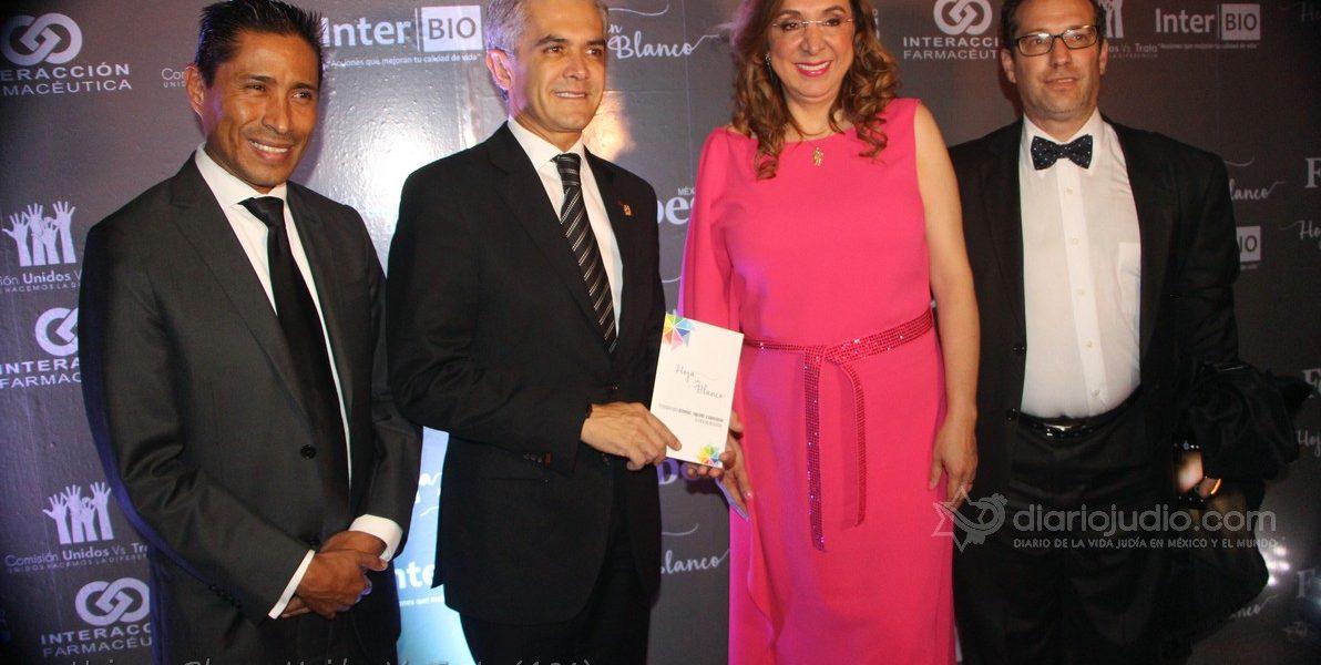 """Importante presencia de la Comunidad judía y líderes de México en Gala """"Hoja en Blanco"""""""