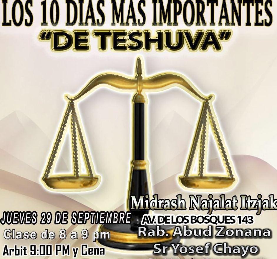 Los 10 días mas Importantes de Teshuva Rab Abud Zonana y Yosef Chayo