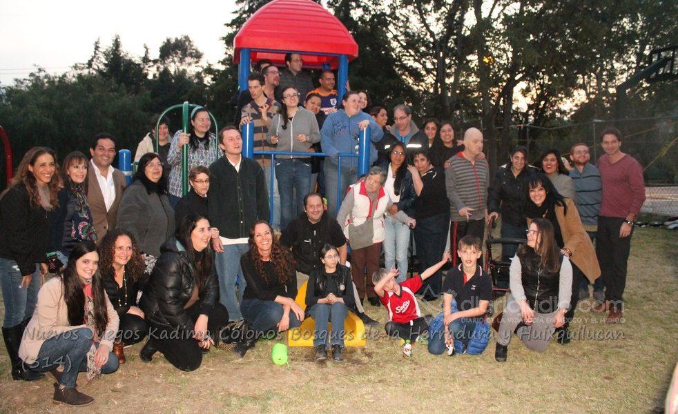 Kadima, de la comunidad Judía, dona Juegos a Bosques de la Herradura Huixquilucan