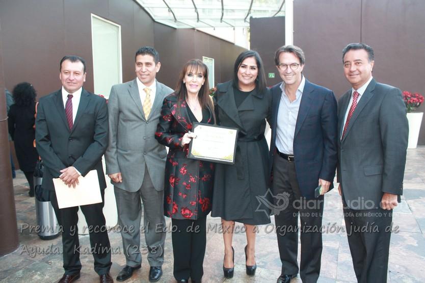 Premia y reconoce el Edo. de México a Organización judía de Ayuda.  Kadima