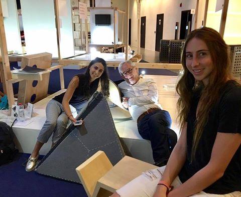 Daniela Lerman, Presenta un tapete librero y cuna en Dubai