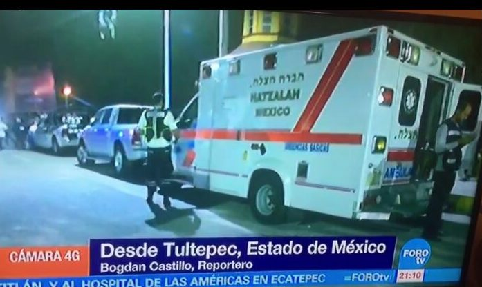Hatzalah y Cadena  Apoyan a Victimas del mercado de Tultepec