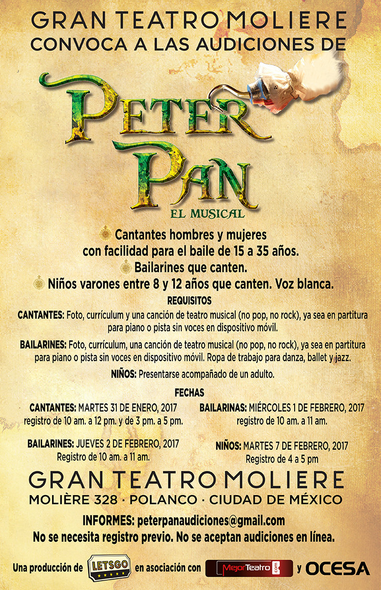 Audiciones para el  musical Peter Pan