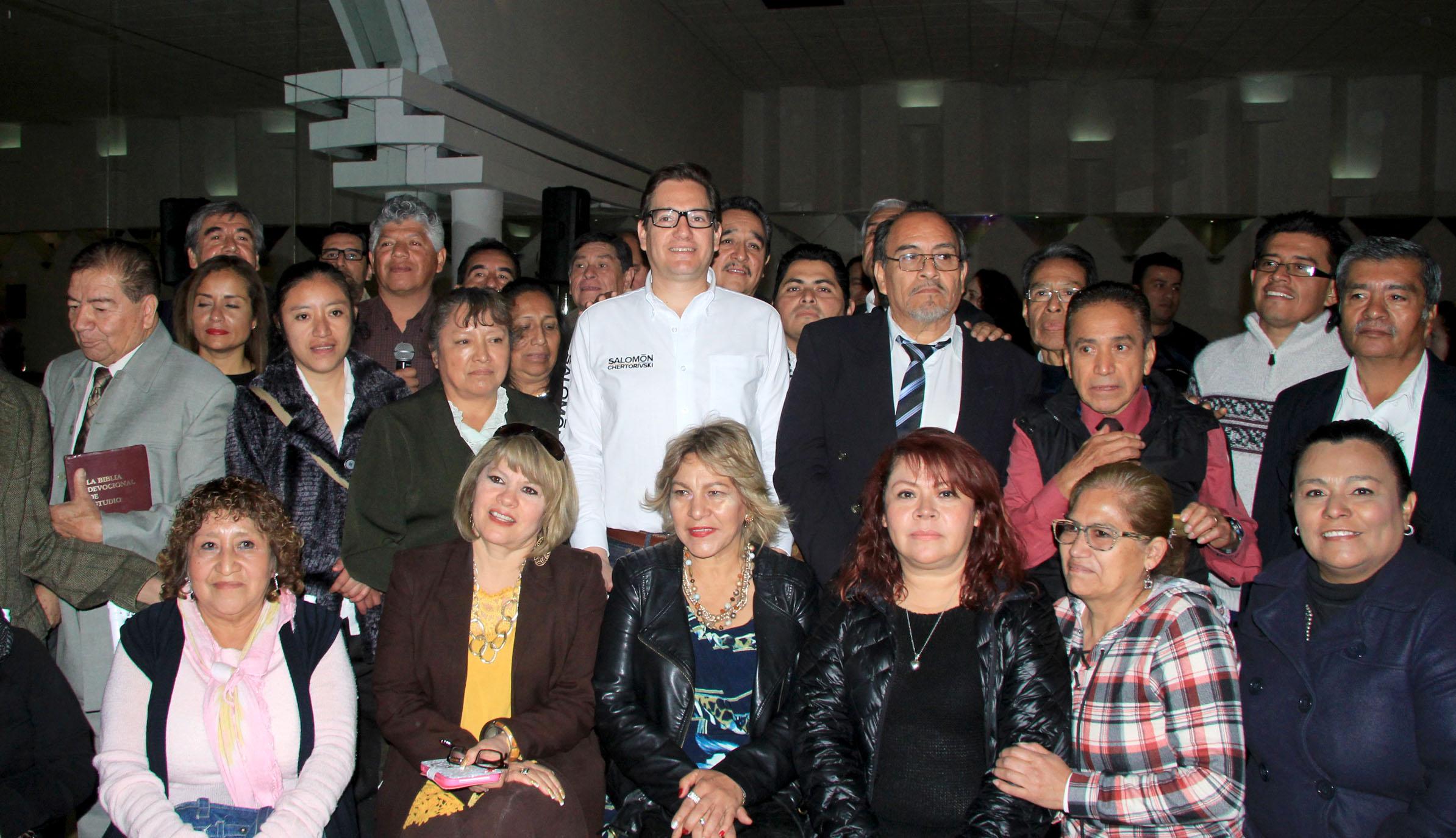 Evangelistas buscando el bienestar en CDMX con Salomón Chertorivski