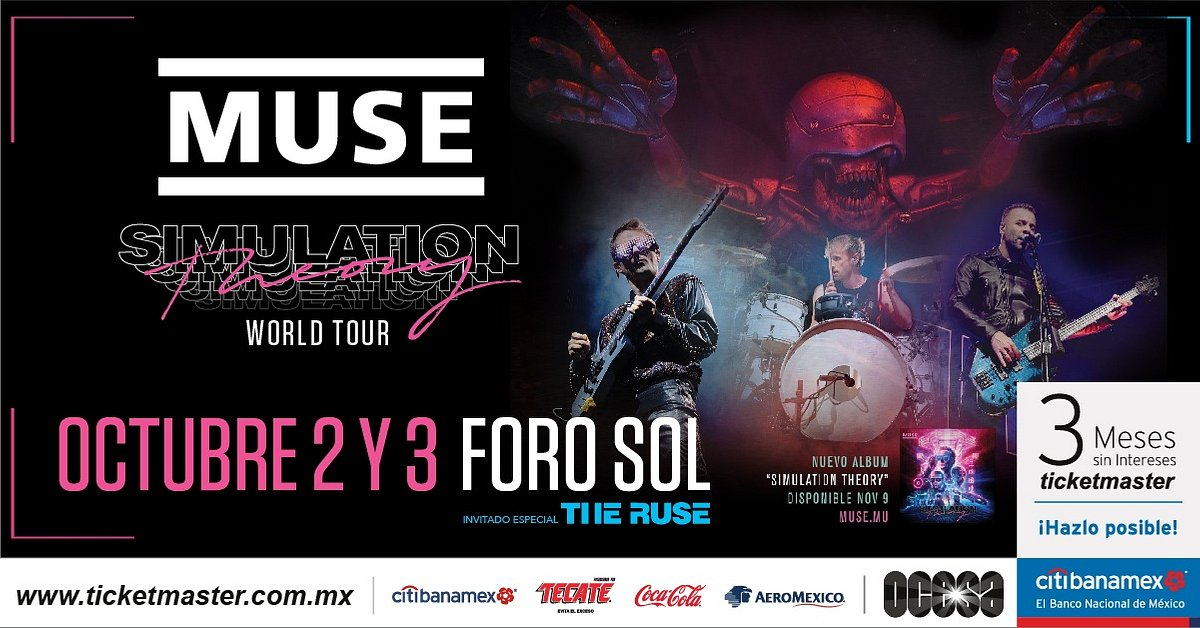 Anuncia MUSE a THE RUSE como invitados especiales en CDMX