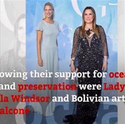 Sonia Falcone, en la Gala en  Montecarlo en pro del Océano Global