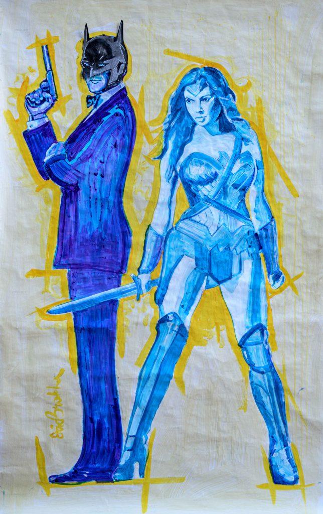 Homenaje a Batman en Isrtael con una animada exhibición de arte callejero